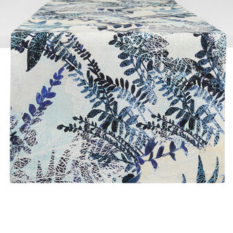 100% cotton table runner with fern print