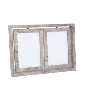 Double picture holder with revolving frames
