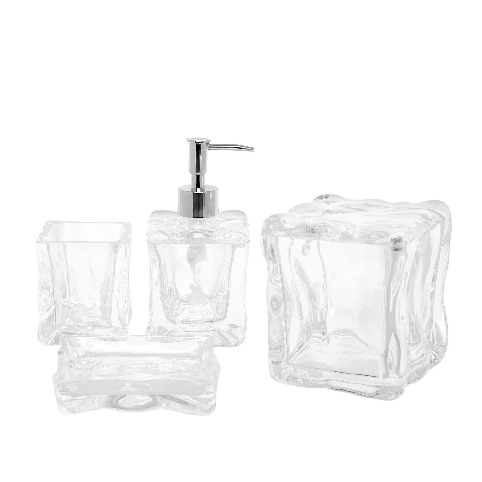 Ice-effect plastic cotton-pad holder