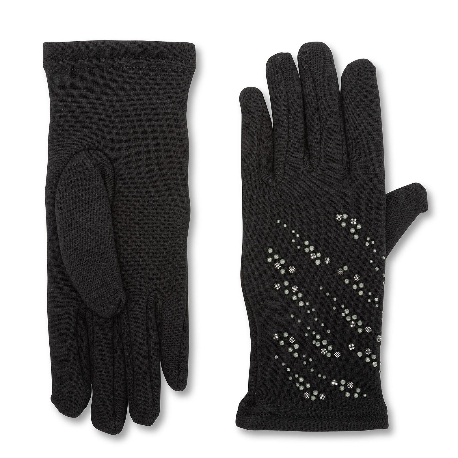 Koan gloves with silver motifs