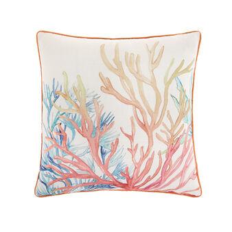 Coral print cushion 45x45cm