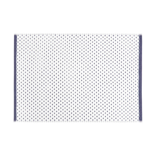 Cotton towel with jacquard design