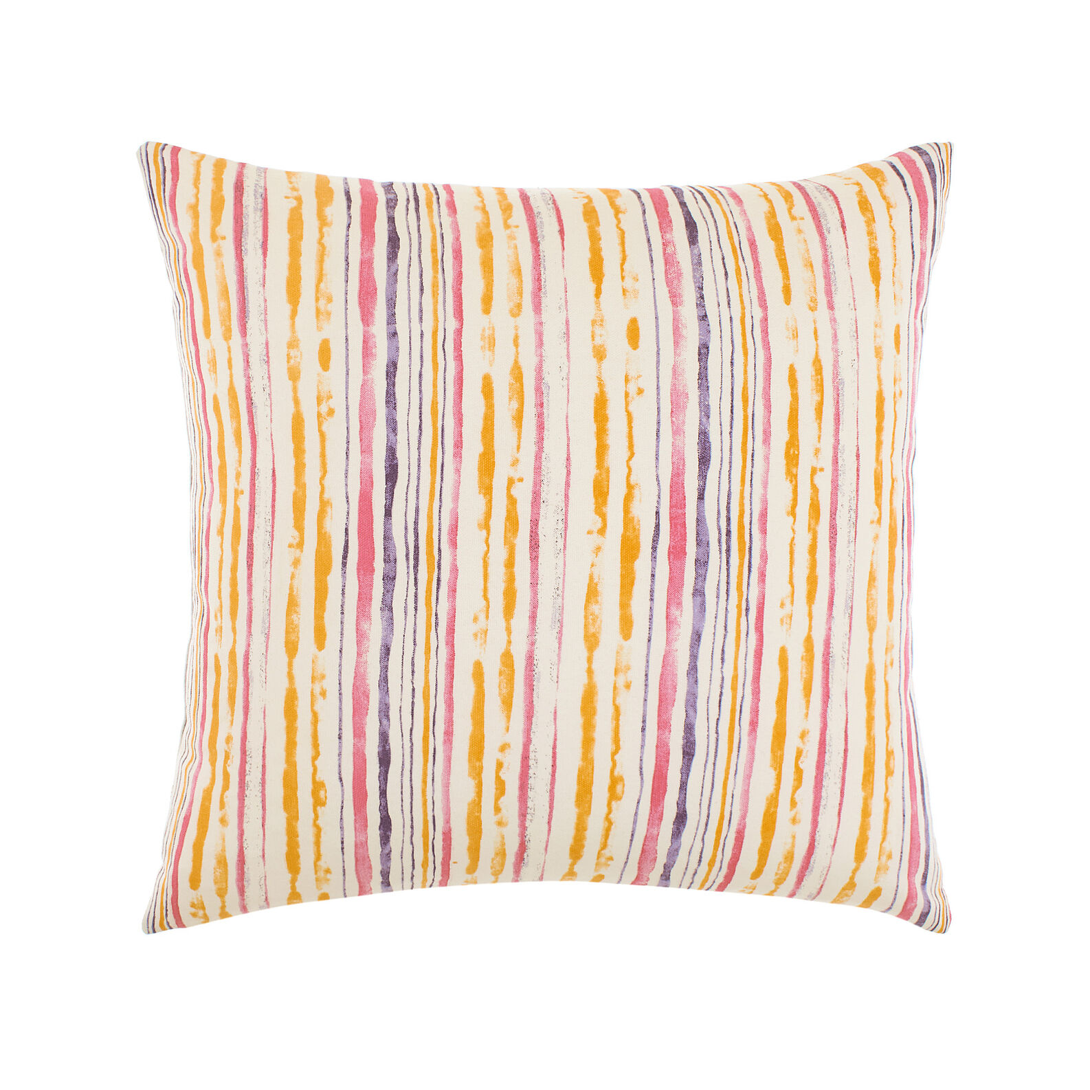 100% cotton cushion with coloured stripes print