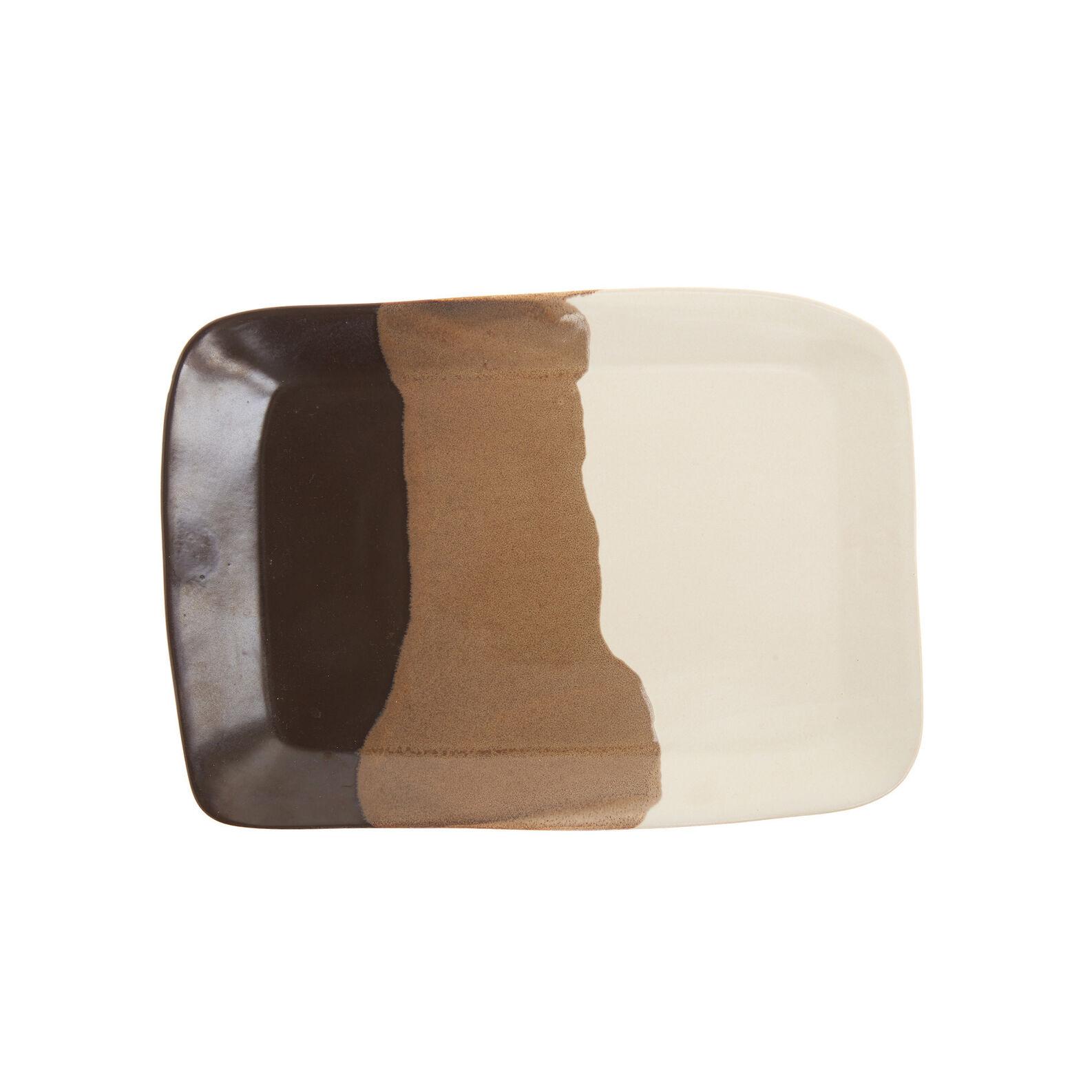 Terra rectangular ceramic plate