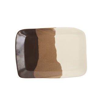Terra rectangular ceramic plate