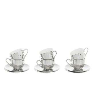 Set 4 tazze caffè new bone china silver