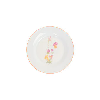 Side plate in New Bone China with flowers