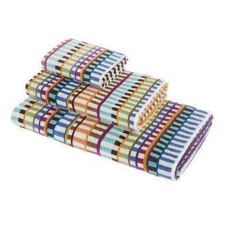 Asciugamano cotone velour motivo geometrico