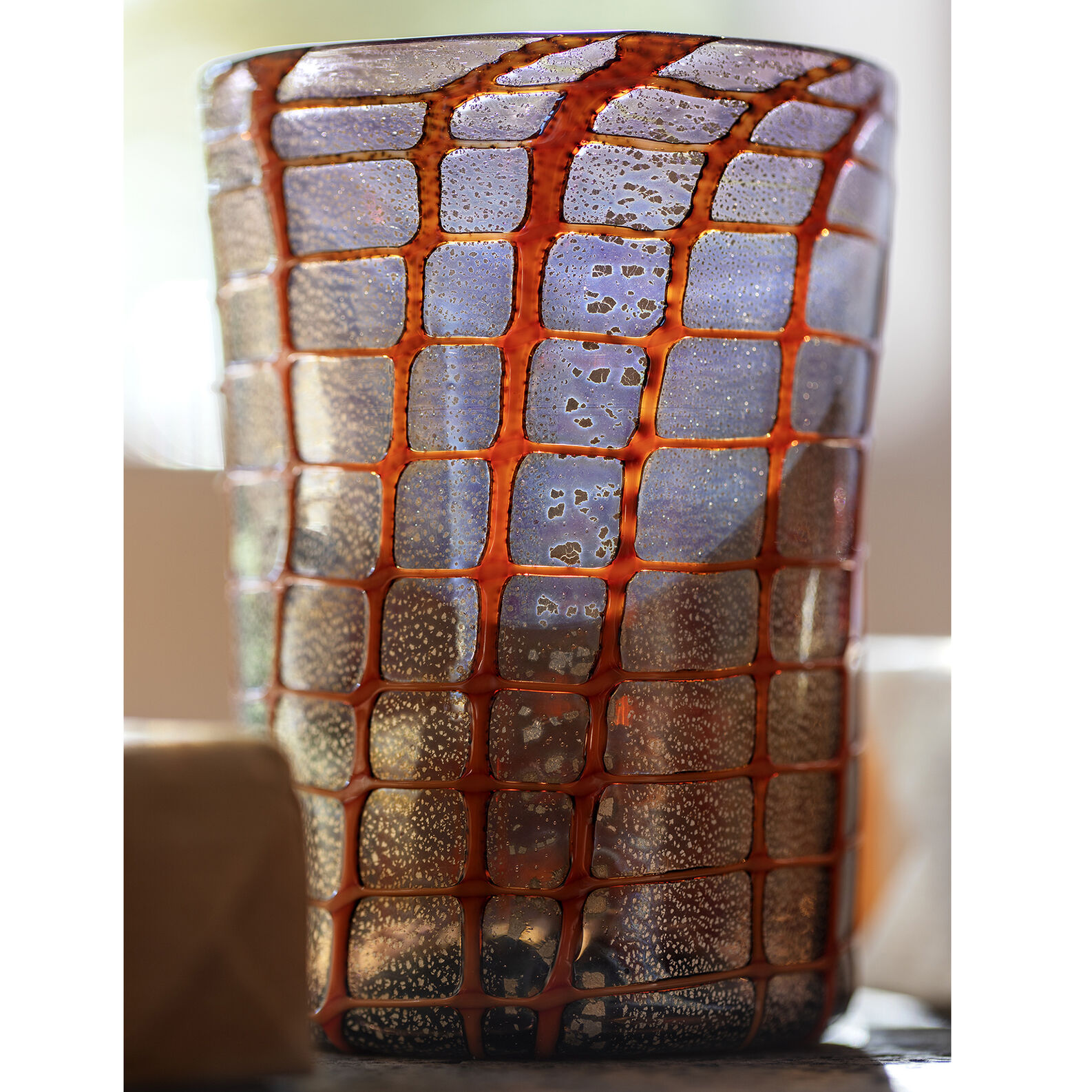 Murano glass glass mesh decoration