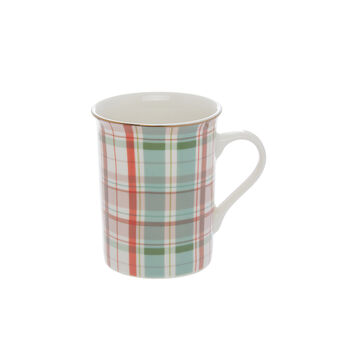 Mug new bone china tartan