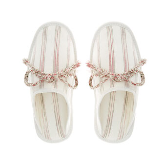 100% cotton striped slippers