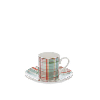 Tazza da caffè new bone china tartan