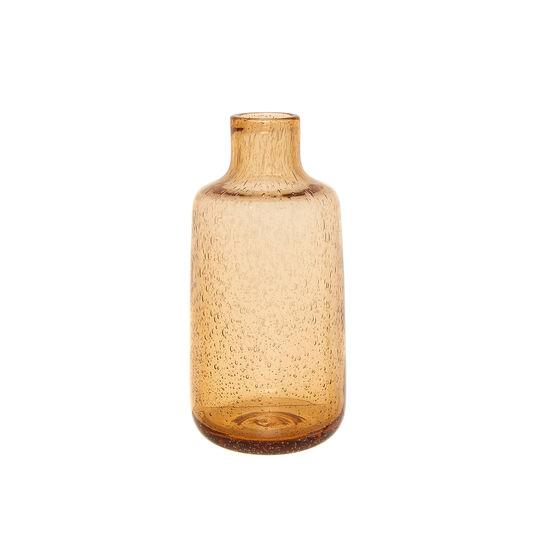 Vaso bottiglia in vetro effetto bolle
