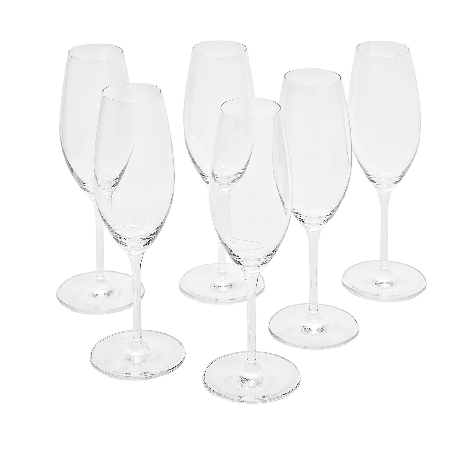 Set of 6 Cru flutes