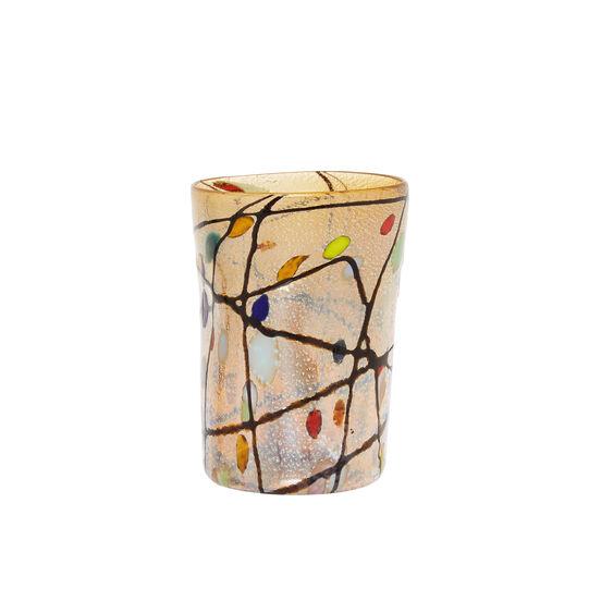 Murano glass tumbler with Kandinsky decoration