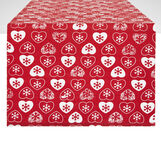 100% cotton table runner with hearts print