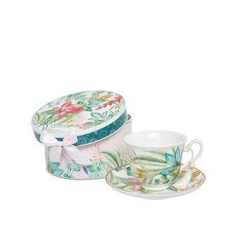 Tazza tè new bone china decoro amazzonia