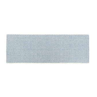 Yarn-dyed kitchen mat in 100% cotton with diamond motif