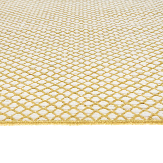 Kitchen mat in recycled PET with geometric motif