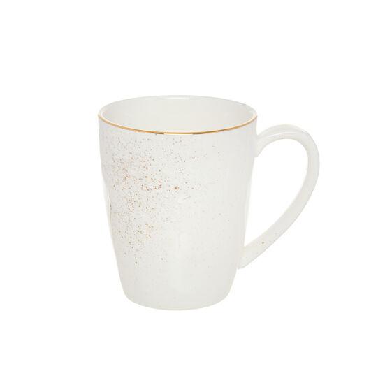 Porcelain mug sprayed gold
