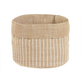 100% iridescent cotton basket with stripes