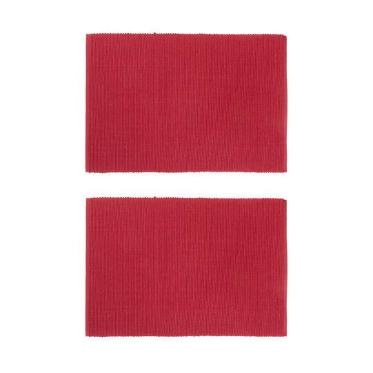 Set of 2 plain cotton placemats