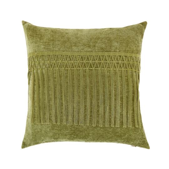 Cuscino velluto con frange 45x45cm