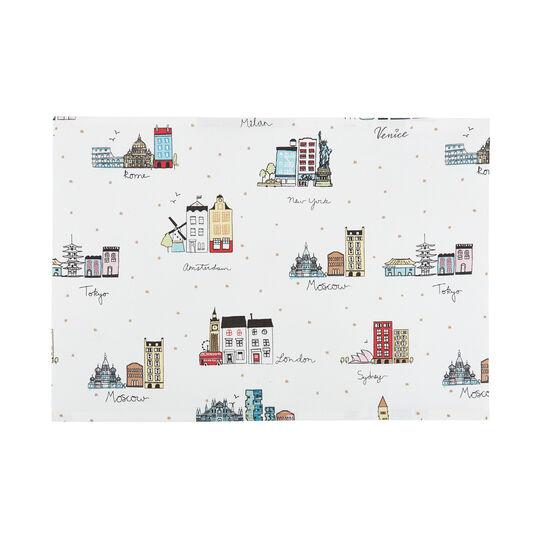 Tovaglietta puro cotone stampa città