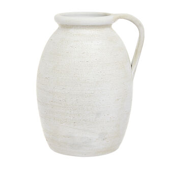 Portuguese ceramic Greek-style hand-crafted vase