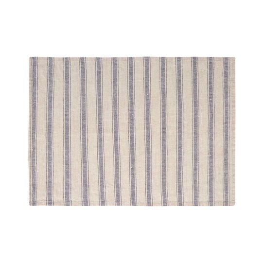 100% linen table mat with stripes