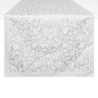 100% cotton table runner with ornamental print