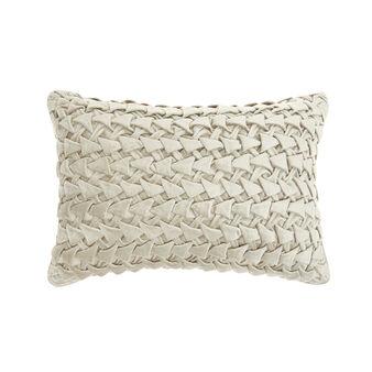 Velvet and viscose woven cushion (30x50cm)