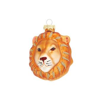 Hand-decorated lion decoration