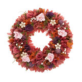 Decorative wreath in balsa wood