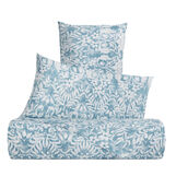 Cotton percale bed linen set with ornamental pattern