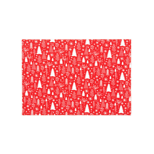 100% cotton table mat with Christmas trees print