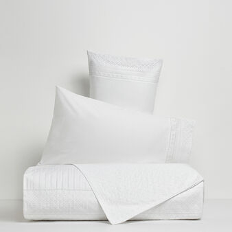Portofino duvet cover in 100% cotton percale with Sangallo lace