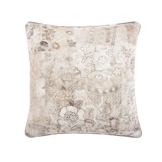 Vintage motif cotton cushion