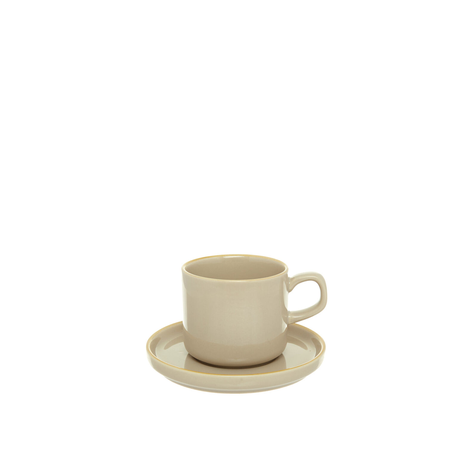 Solid colour stoneware coffee cup