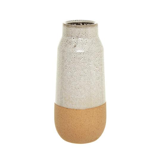 Vaso in ceramica smaltata bicolore