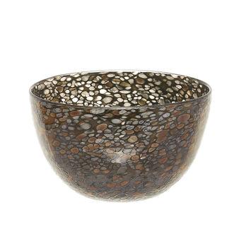 Bowl decorativa vetro colorato in pasta effetto mosaico
