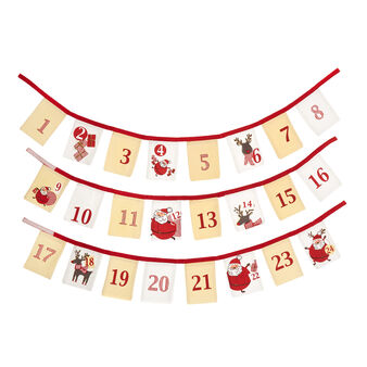 Advent calendar in 100% cotton with print