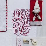 Asciugamano puro cotone lettering natalizio