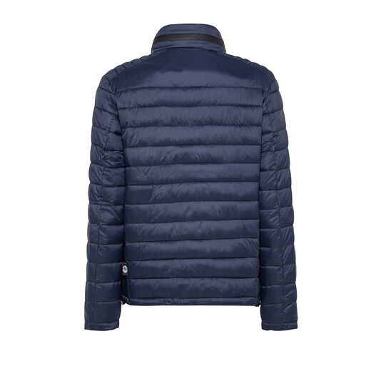 Padded jacket with high collar