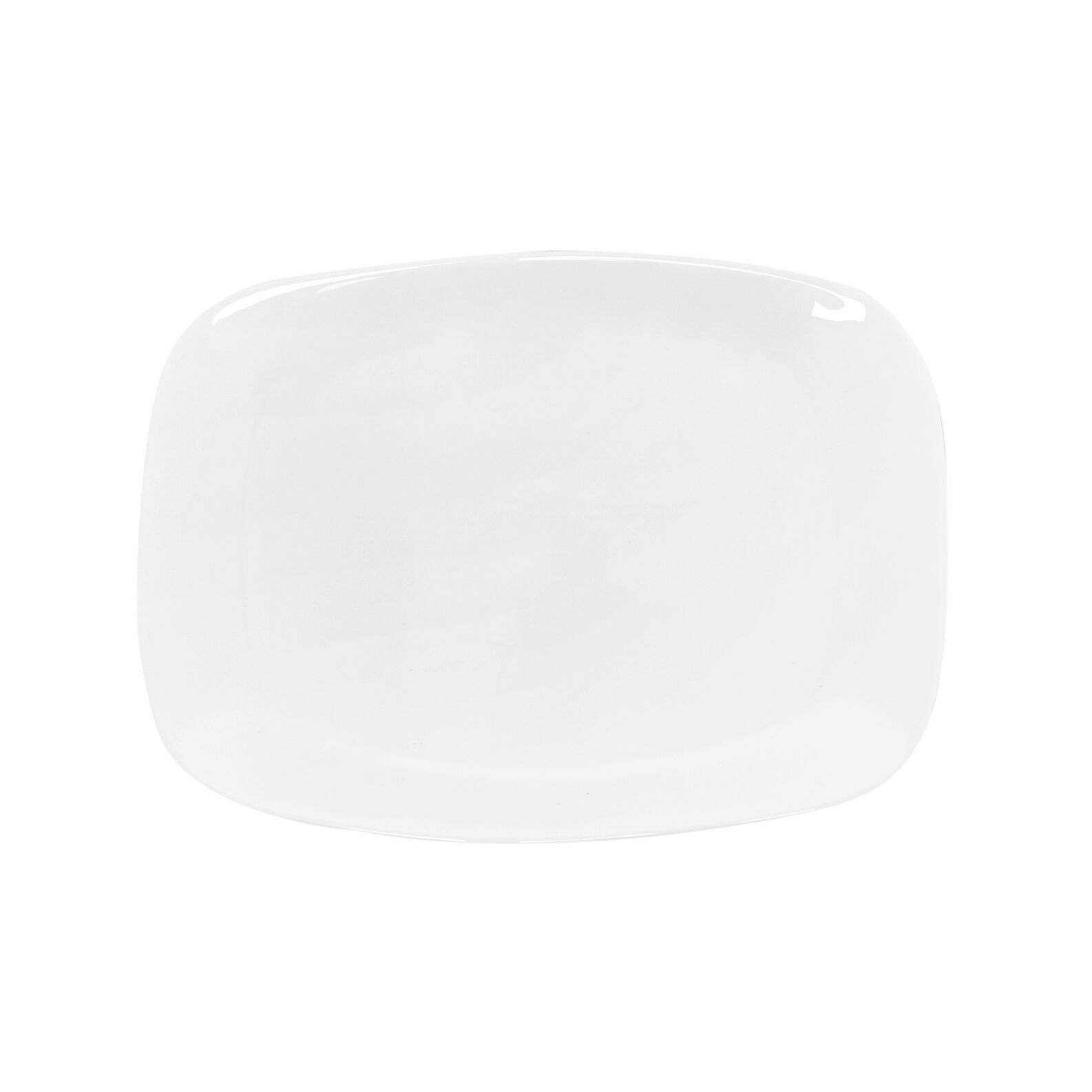 Easy serving dish in white glass