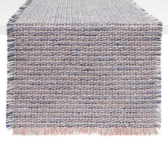 Tweed table runner with fringing
