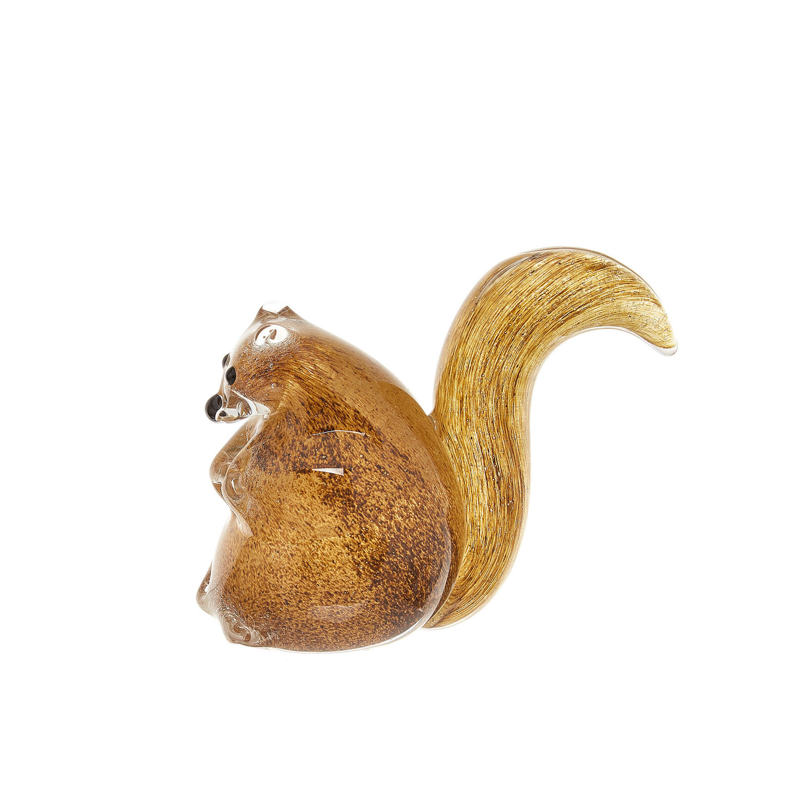 Handmade coloured glass squirrel