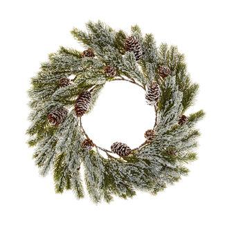 Corona di pino decorativa