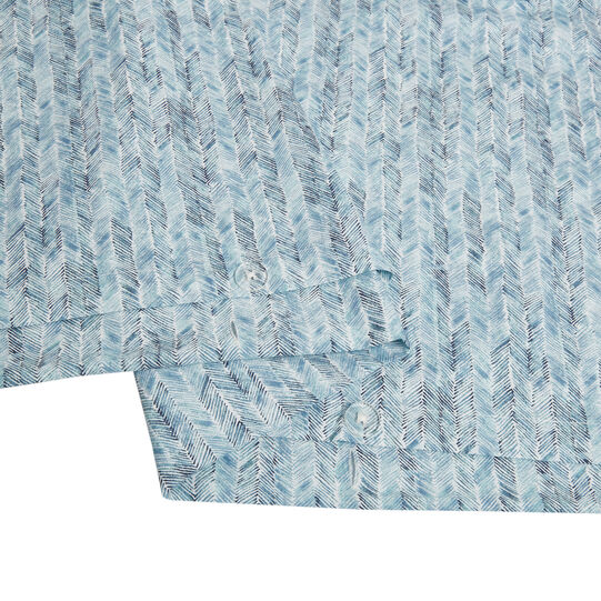 Cotton percale duvet cover with herringbone pattern