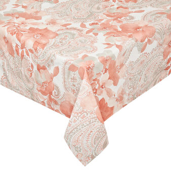100% cotton tablecloth with rose print
